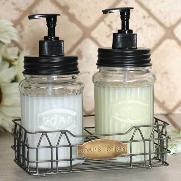 Kitchen Soap And Lotion Dispenser Set