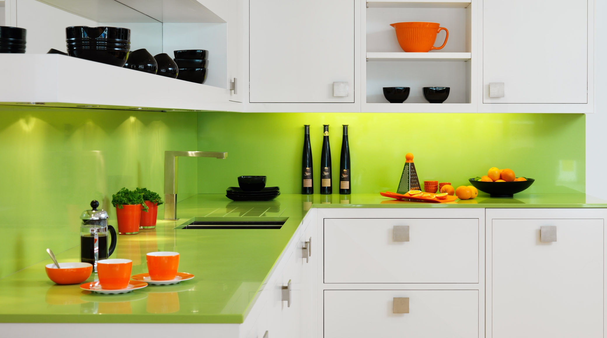 Lime Green Kitchen Decorating Ideas