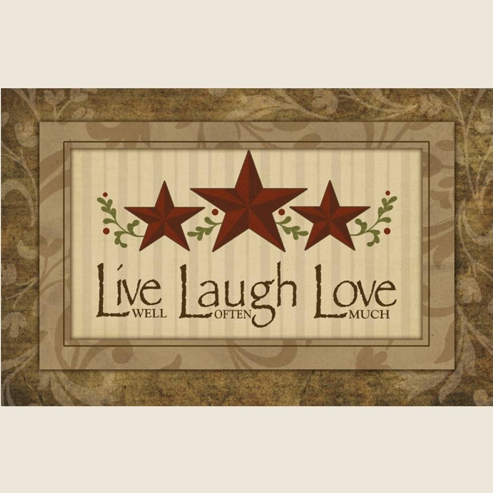 Live Laugh Love Country Kitchen Decor