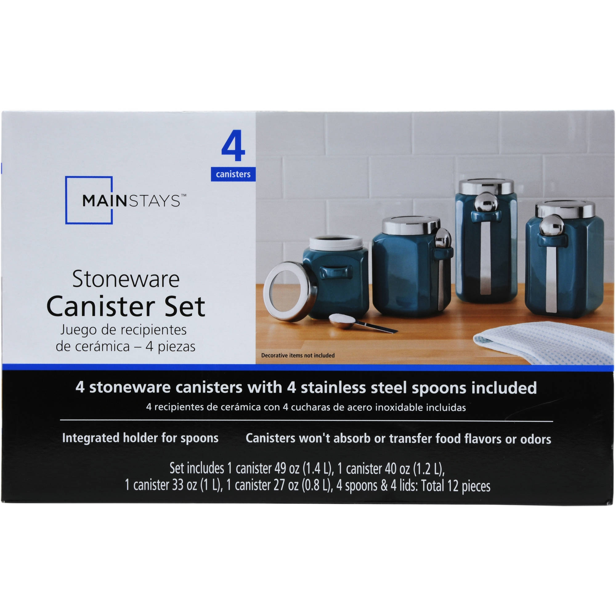 Mainstays Red Stoneware Kitchen Canister Set 4pc Mainstays Red Stoneware Kitchen Canister Set 4pc mainstays pantry durable ceramic for daily use contemporary 2000 X 2000