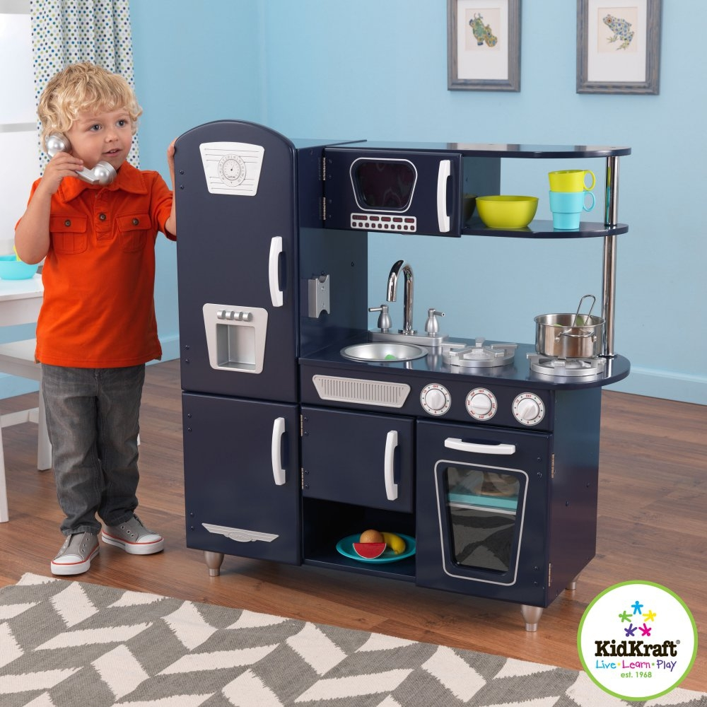 Permalink to Navy Vintage Play Kitchen Set