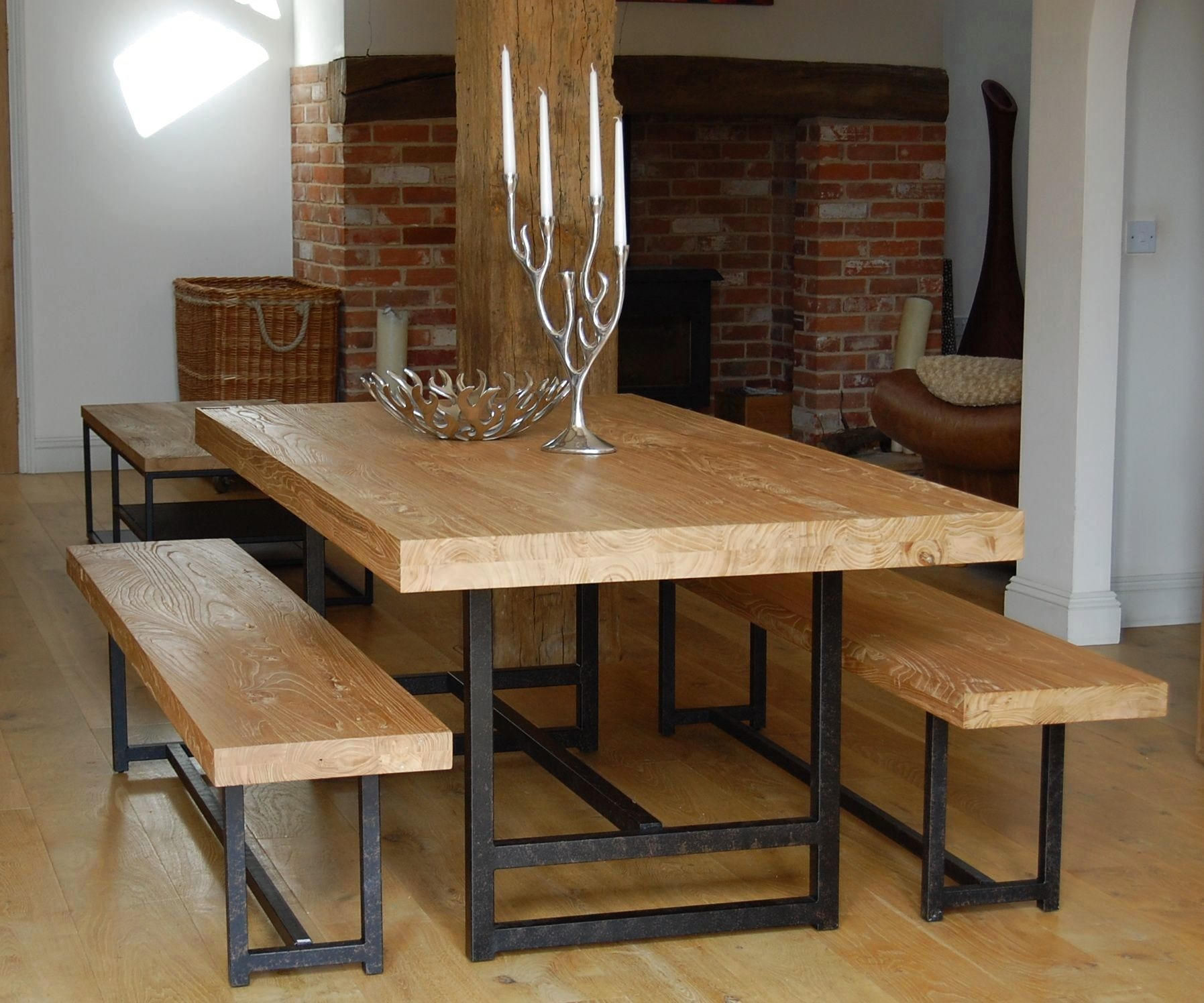 Permalink to Oak Kitchen Table And Bench Set