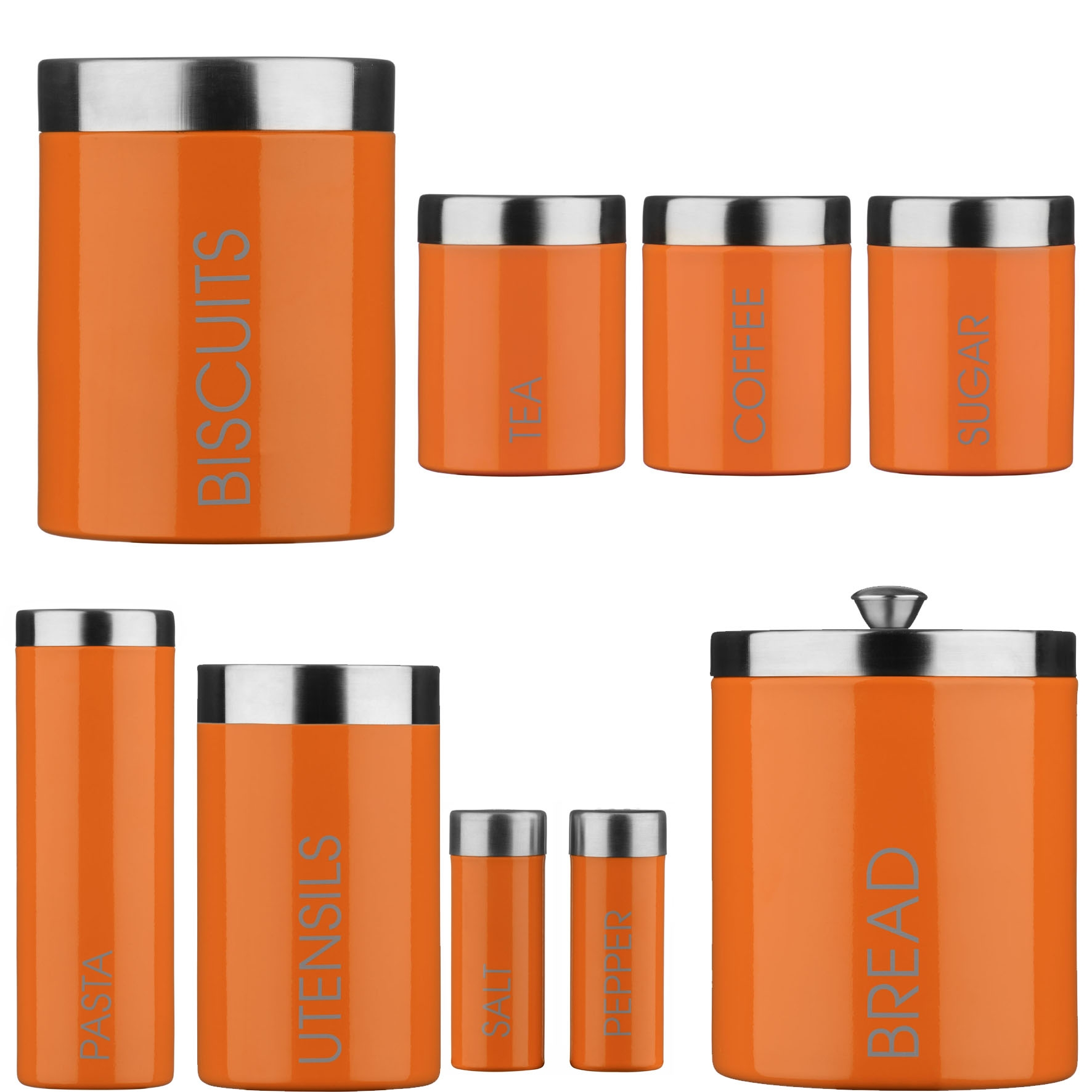 Permalink to Orange Canister Sets Kitchen
