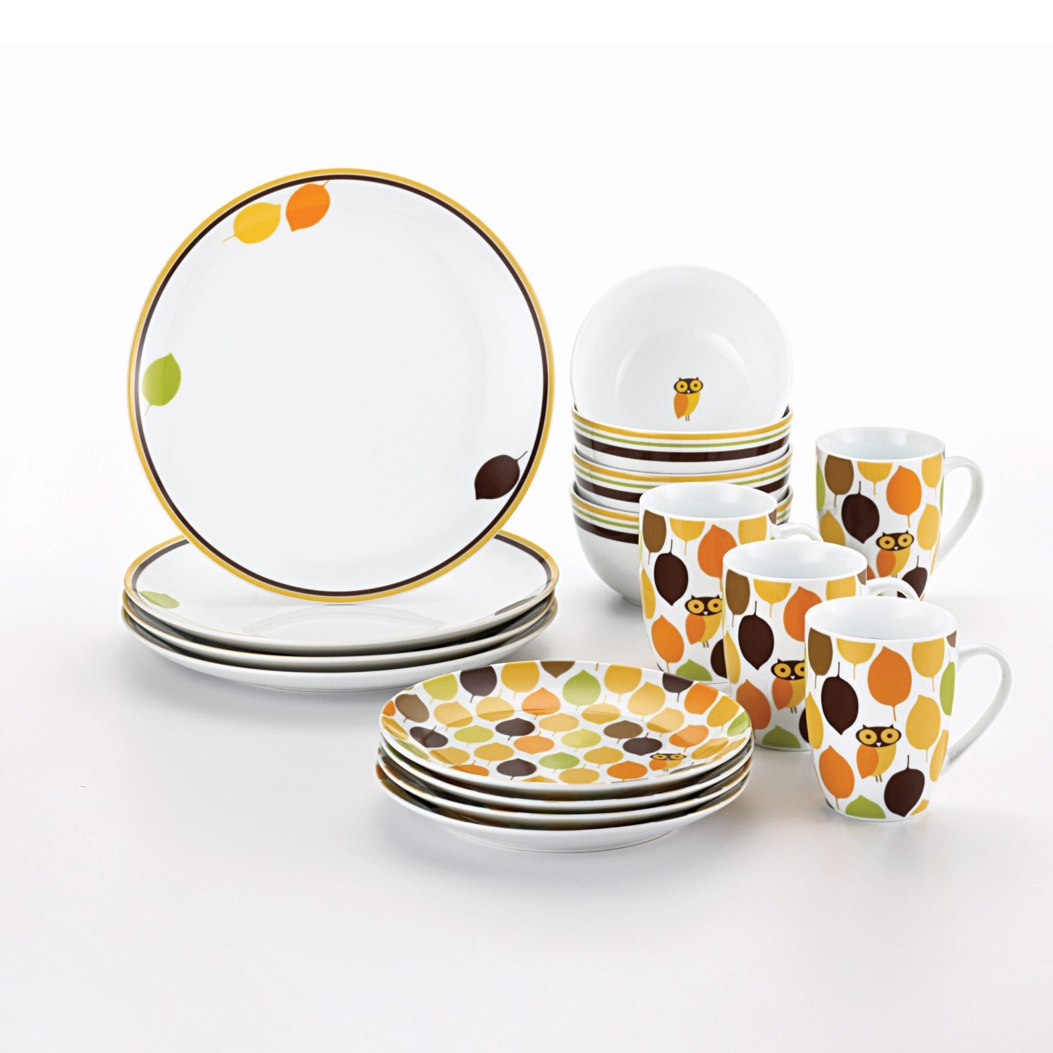 Owl Kitchen Plates Set