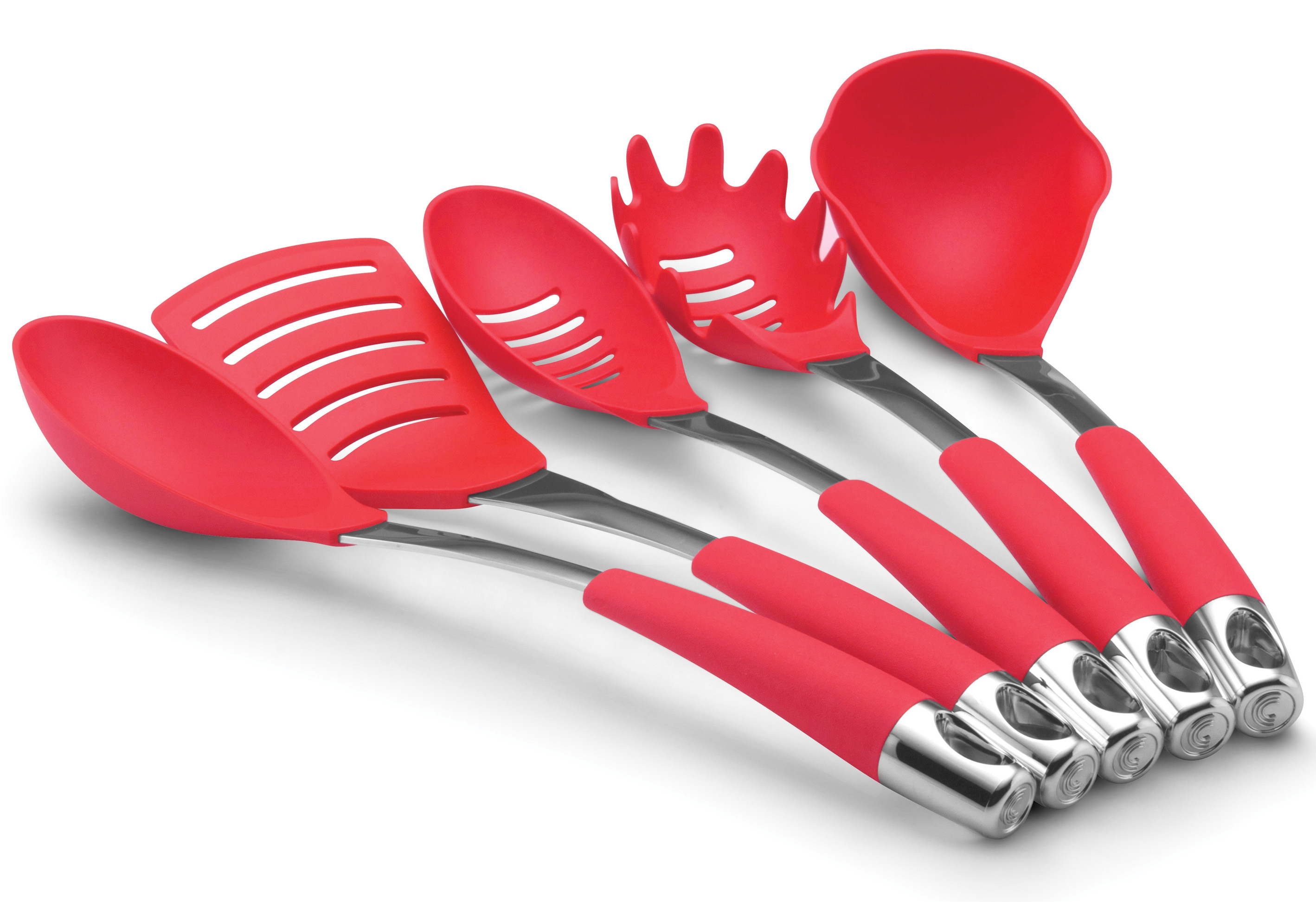Red Kitchen Utensil Set