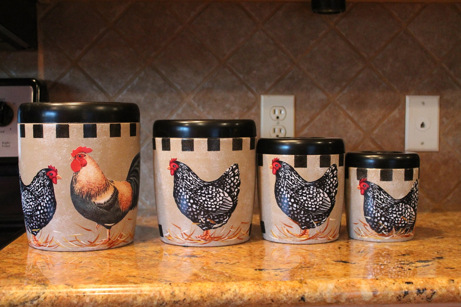 Rooster Canister Sets Kitchen