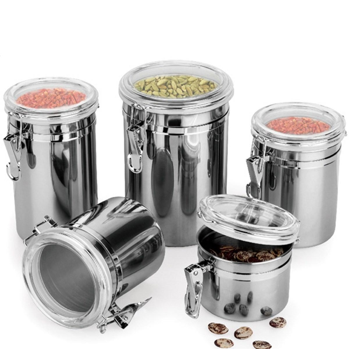 Silver Kitchen Storage Set
