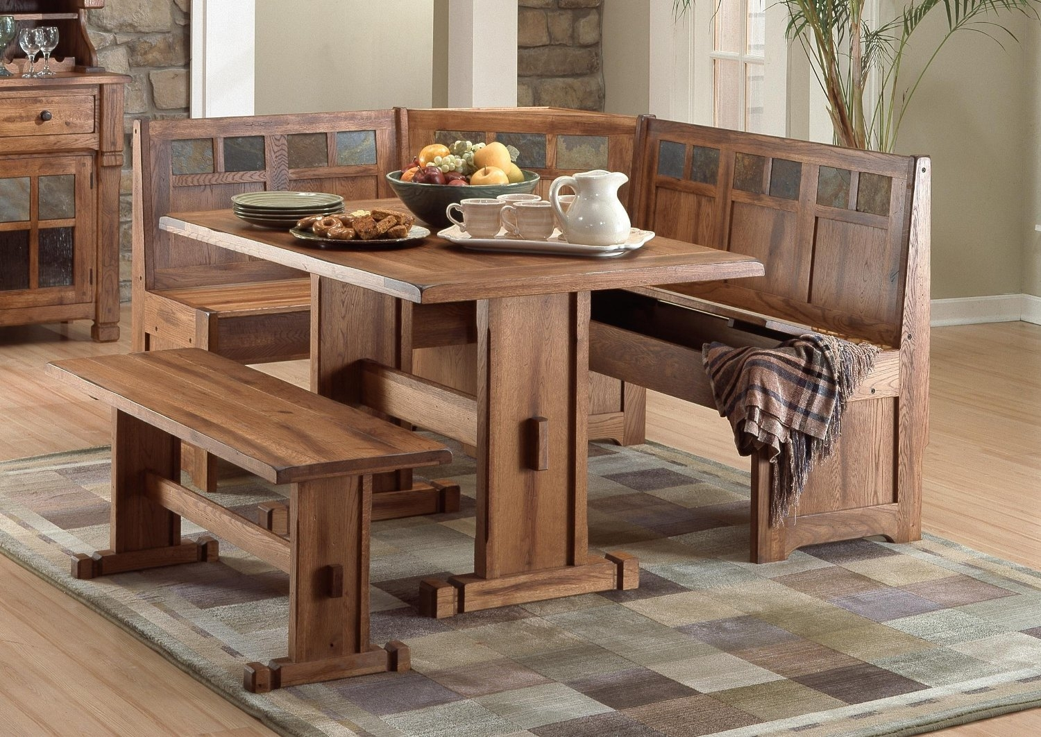 Permalink to Small Kitchen Table And Bench Set