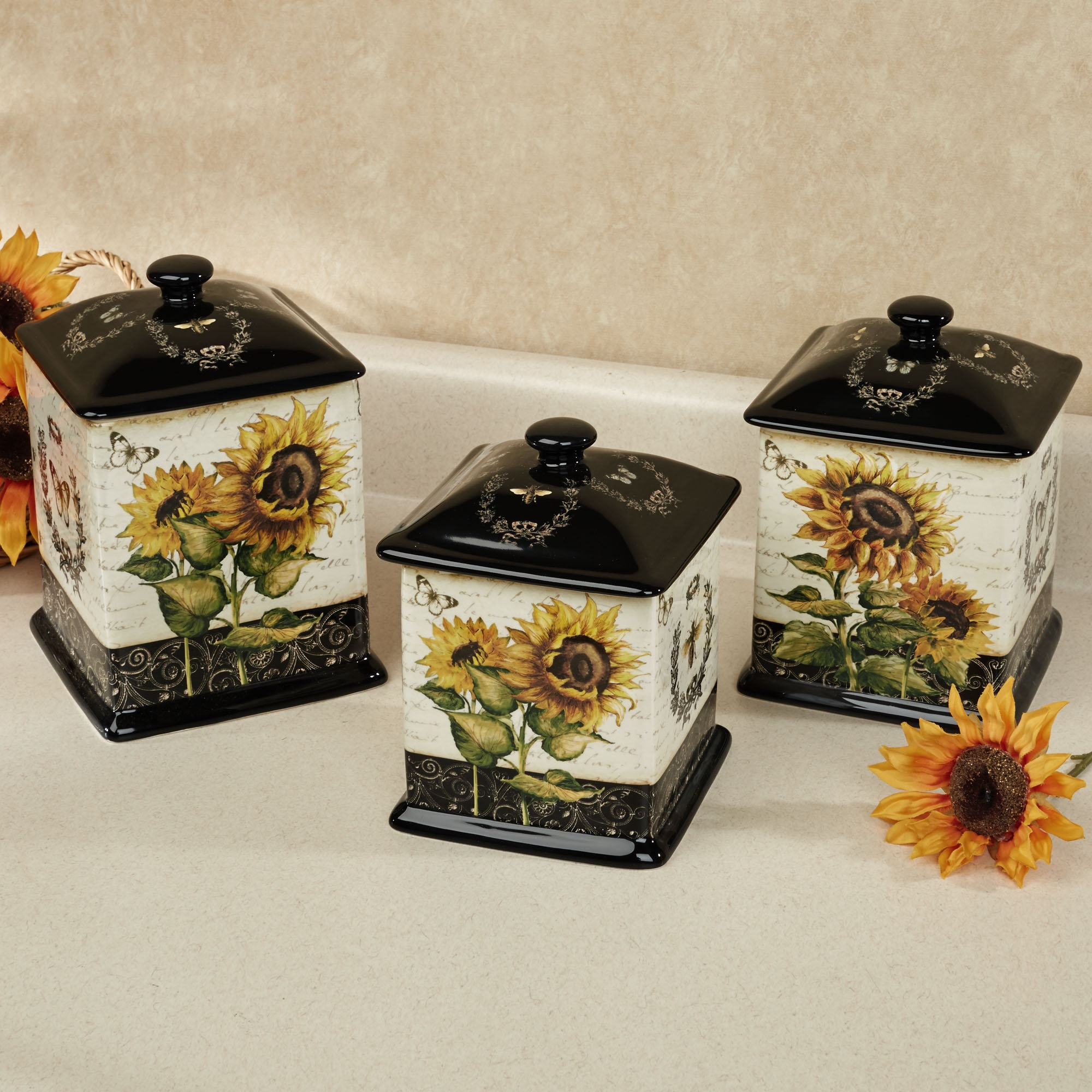 Sunflower Kitchen Canister Sets