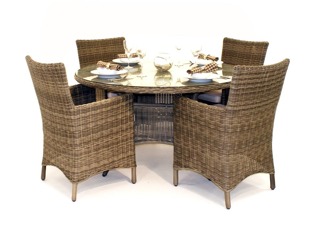 Wicker Kitchen Table Sets