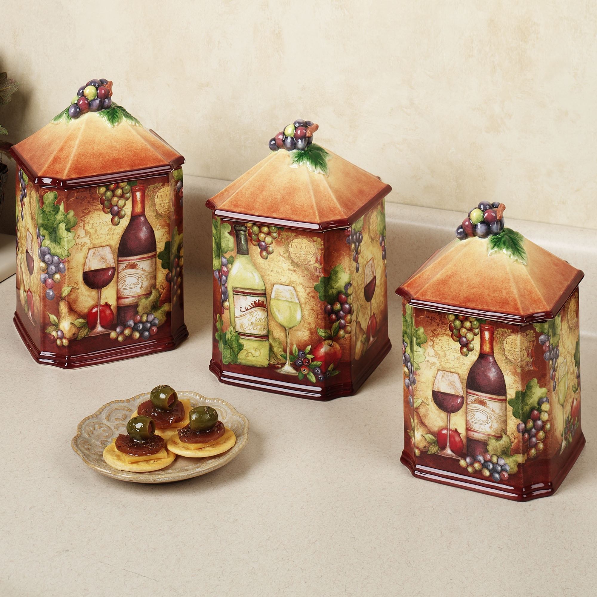 Wine Decor Kitchen Canisters