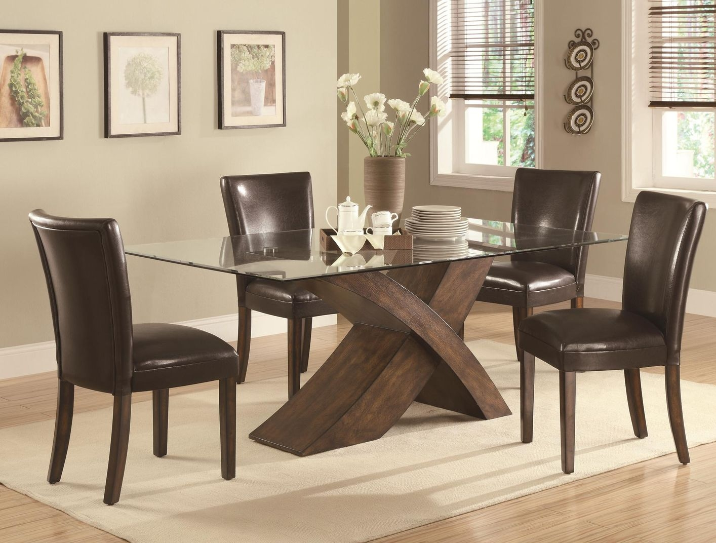 Permalink to Wood And Glass Kitchen Table Sets