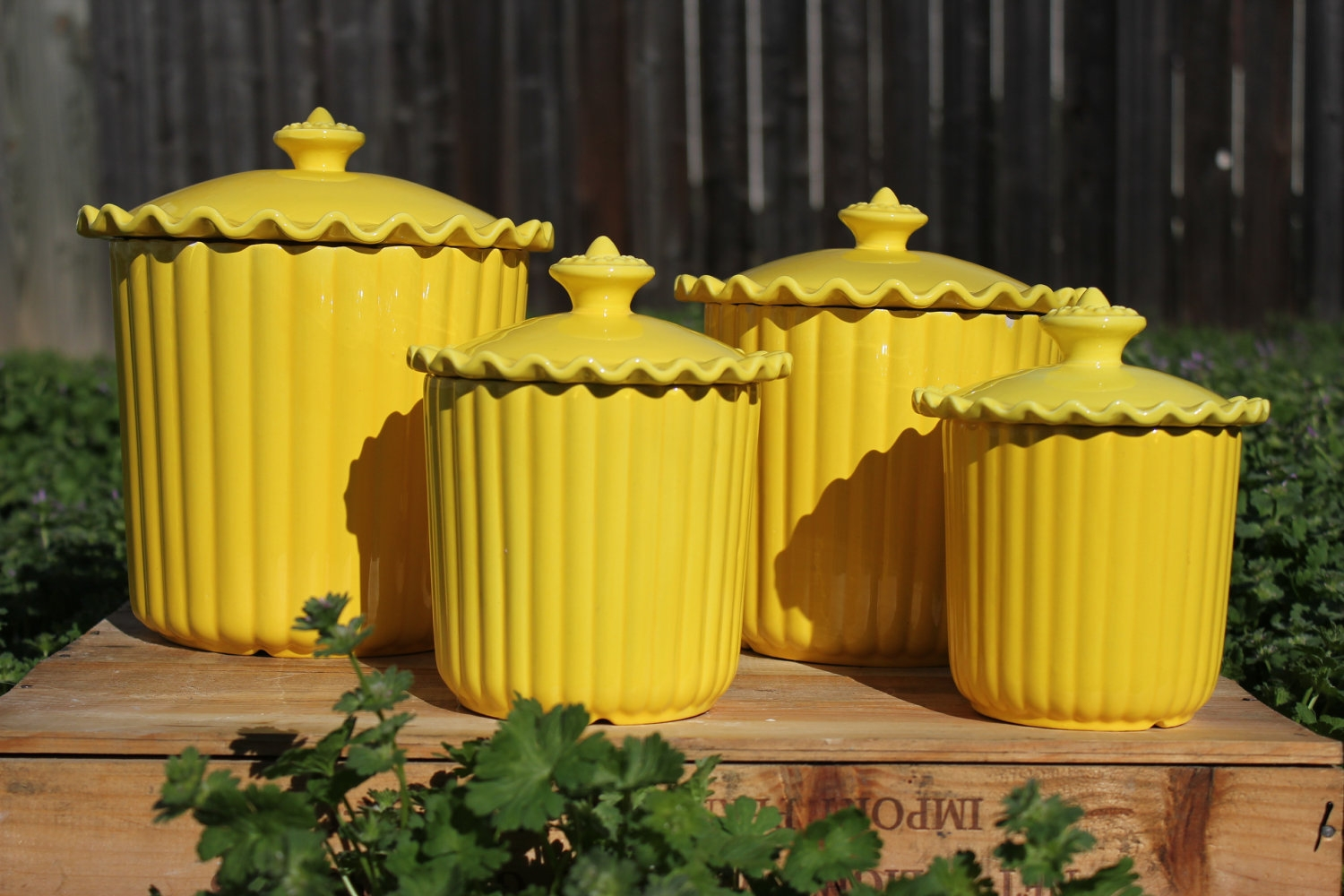 Yellow Canister Sets Kitchen1500 X 1000
