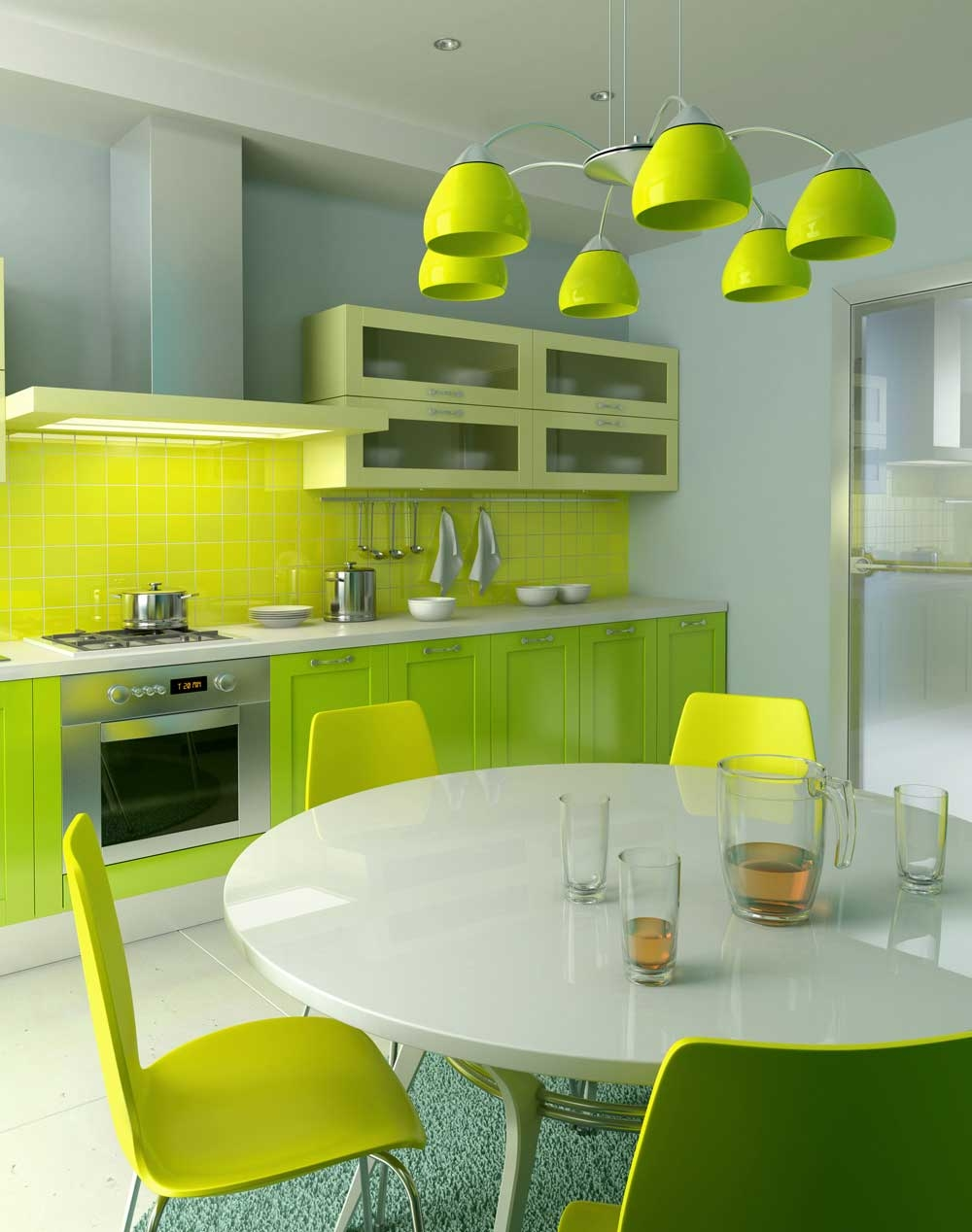 Permalink to Yellow Green Kitchen Decor