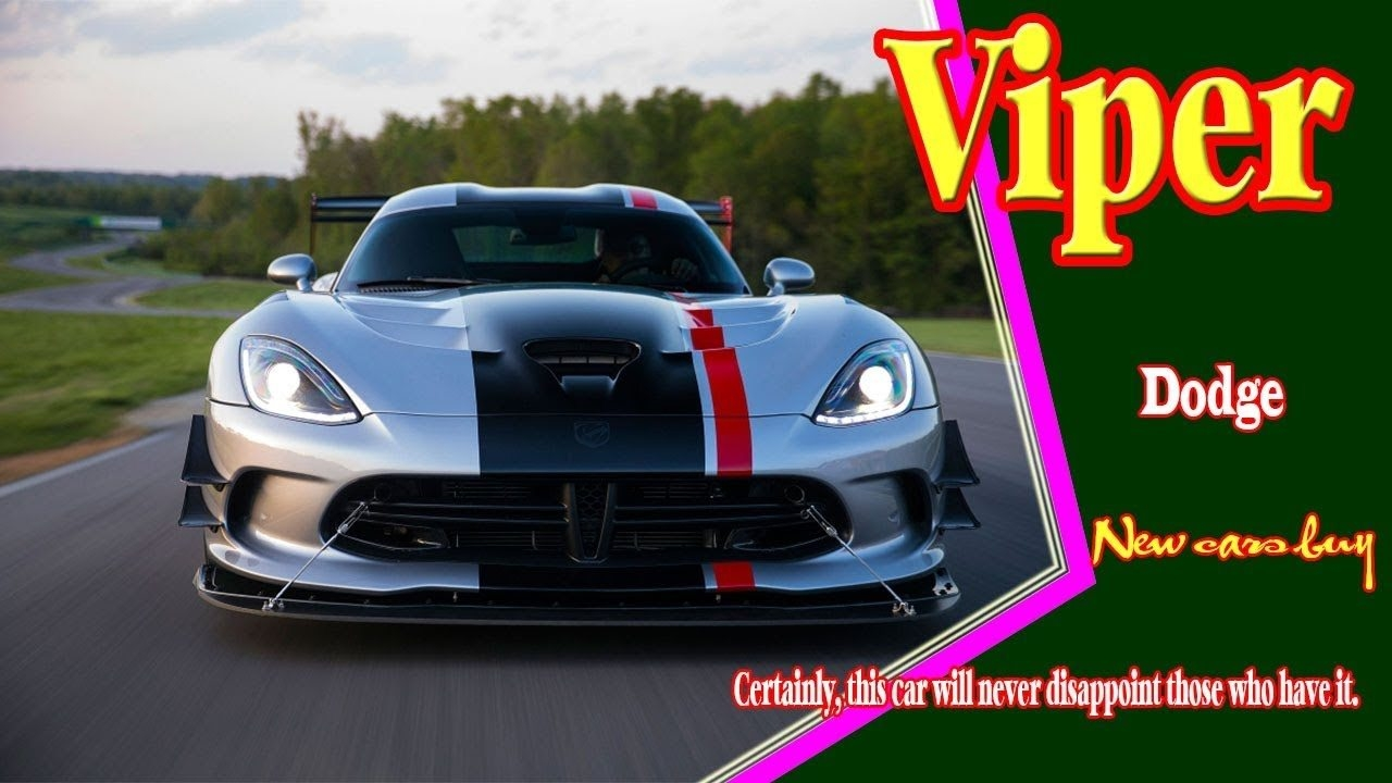 30 New 2020 Dodge Viper Roadster Overview