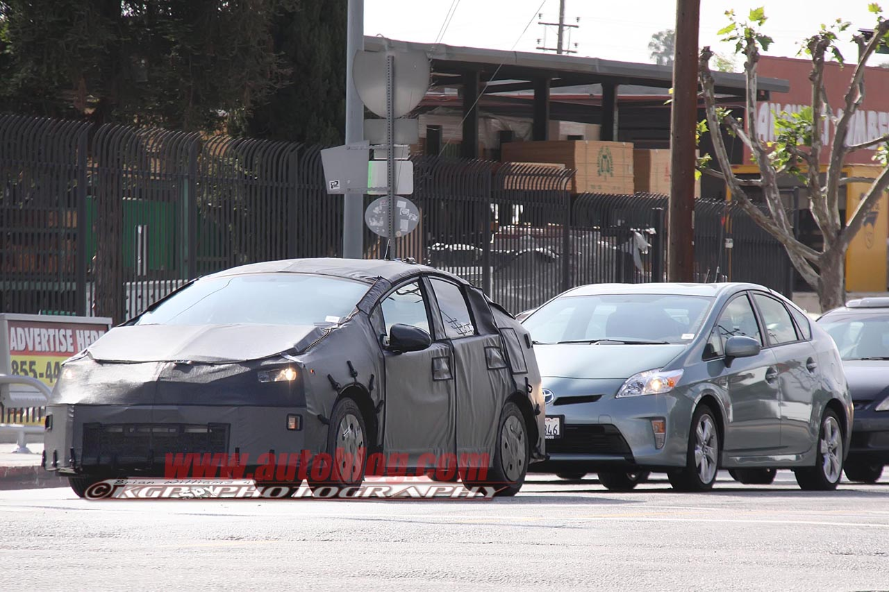 48 All New Spy Shots Toyota Prius Engine