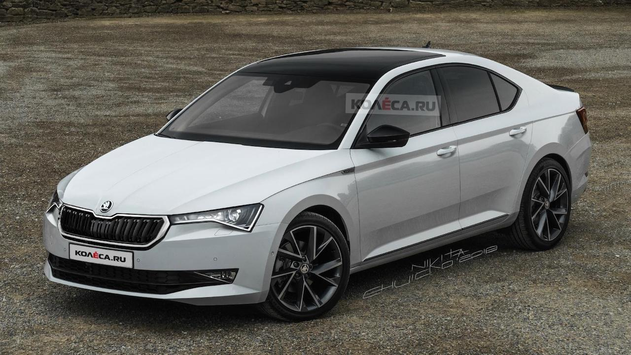 90 A 2020 The Spy Shots Skoda Superb New Concept