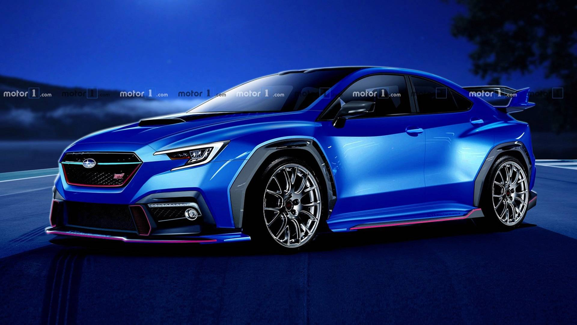 90 A 2020 Wrx Sti Hyperblue Overview