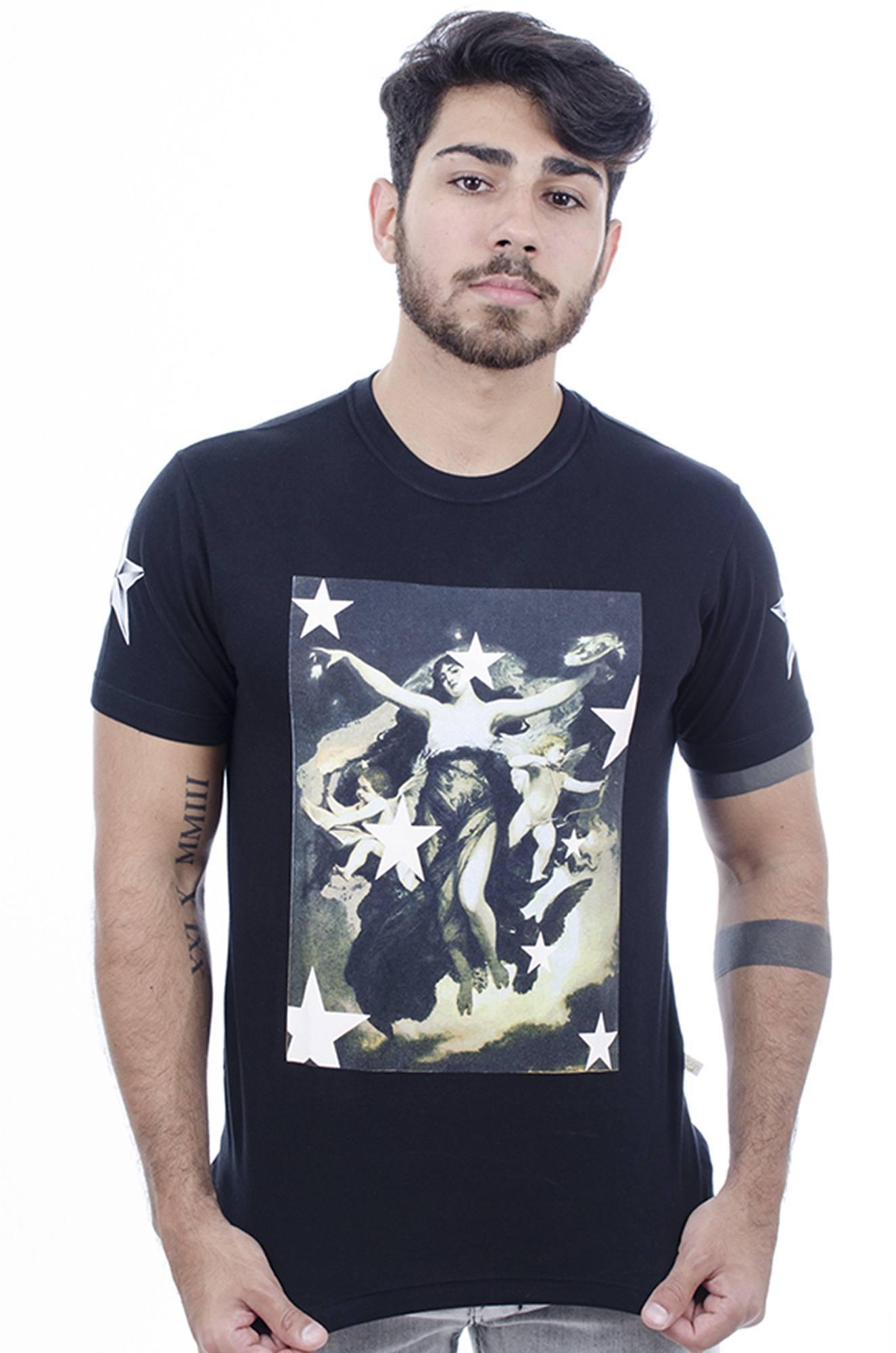 Camiseta Masculina Estampada Hardivision Lady Of Stars Preto