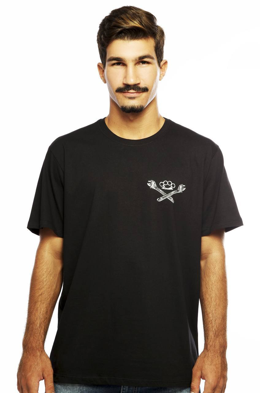 Camiseta MasculinaEstampada Mechanics Preto Hardivision