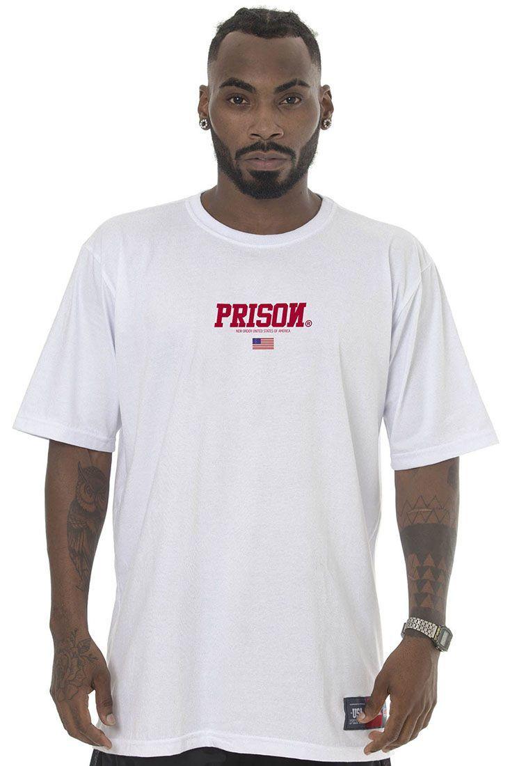 Camiseta Prison Red Usa Branca