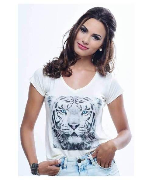 Blusa White Tiger (Freedom Soul)