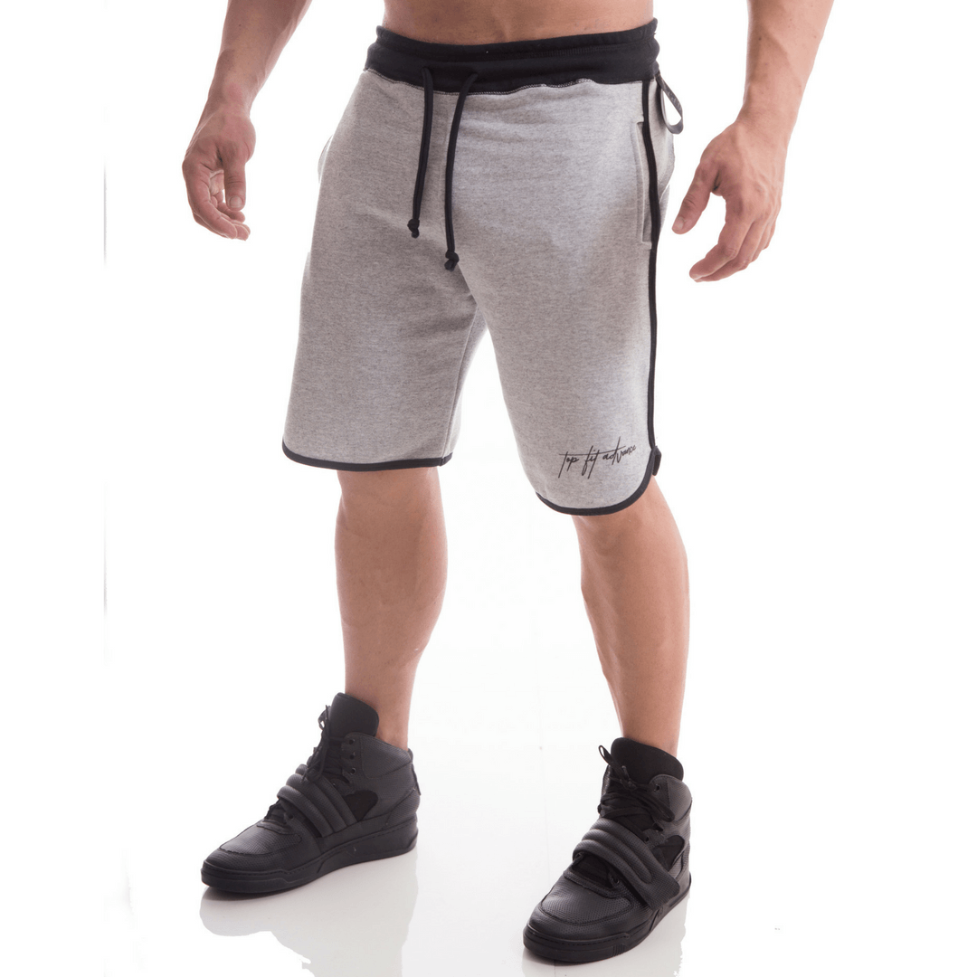 Bermuda Moletom Top Fit Cinza