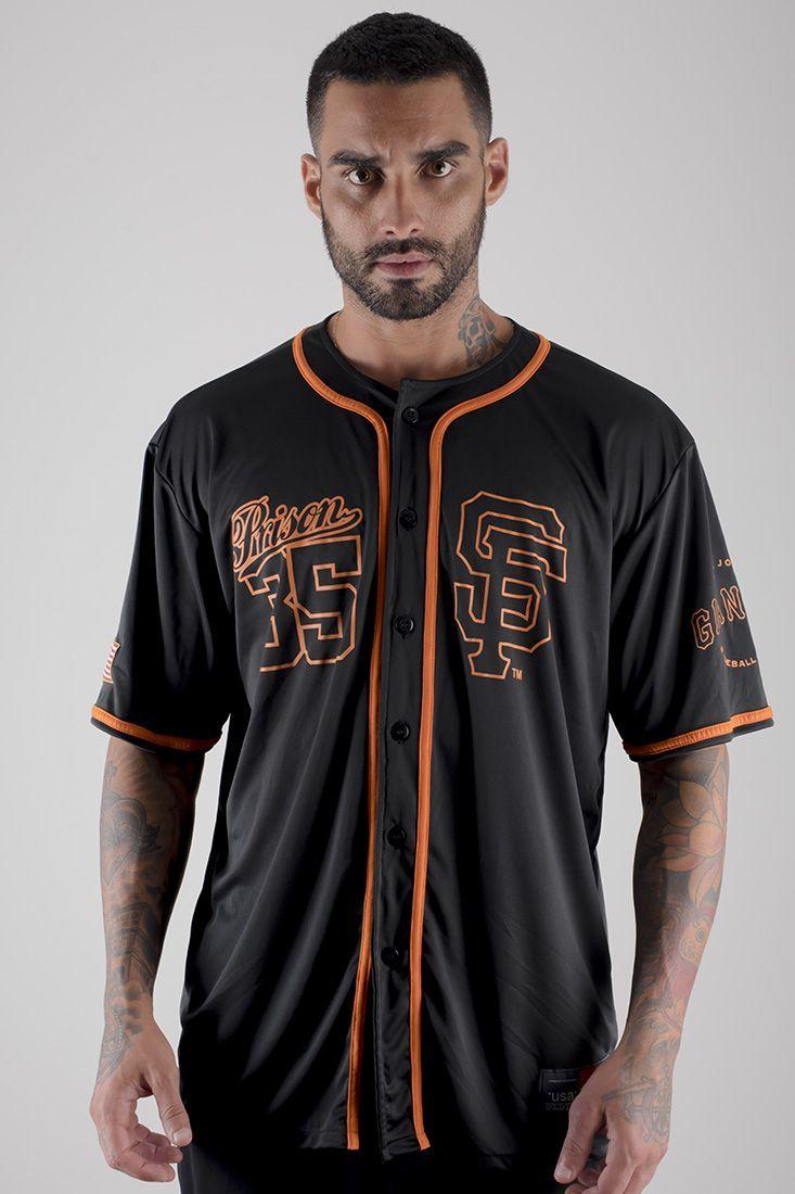 Camisa de baseball Prison GIANTS Preta