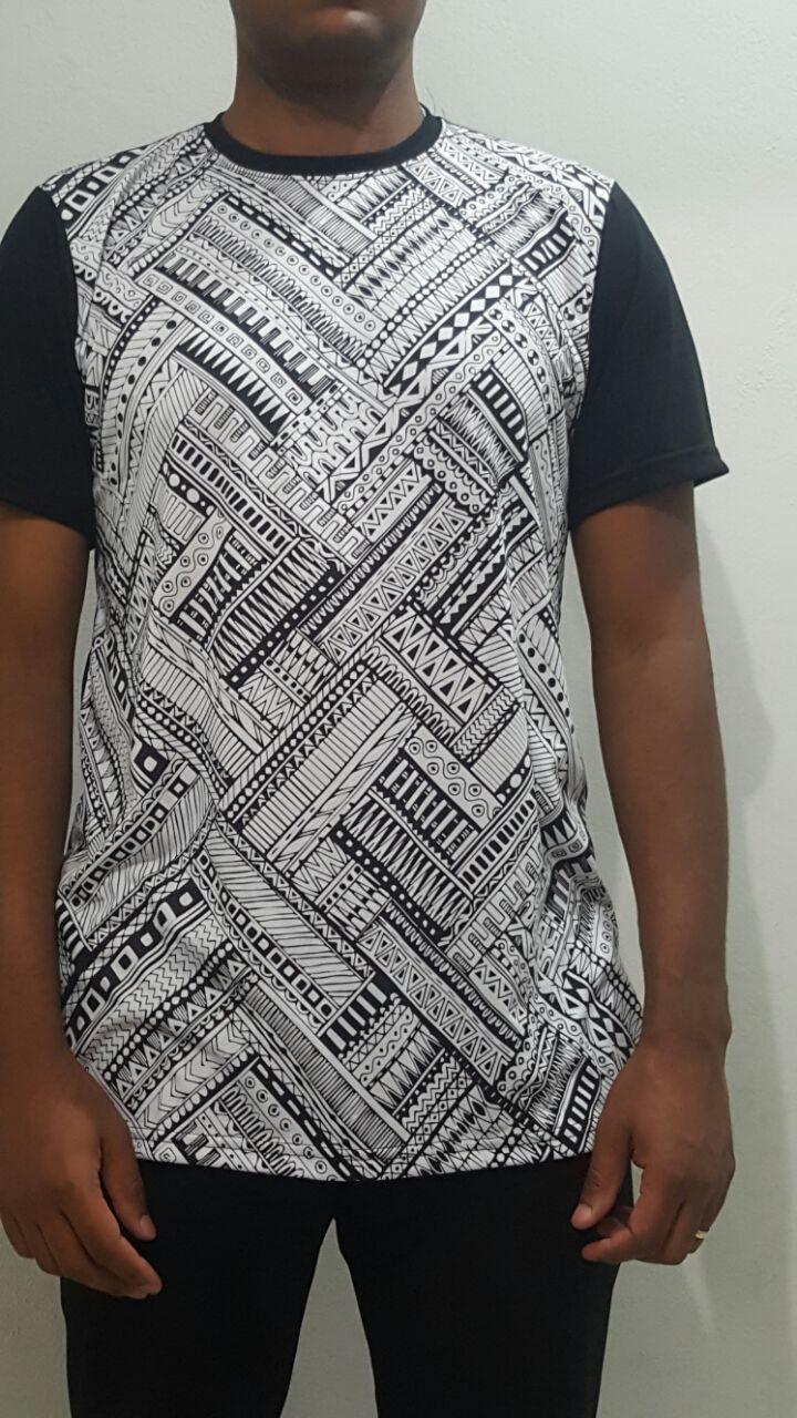 Camiseta Akanni Exclusive Etnic Preta(Lançamento)