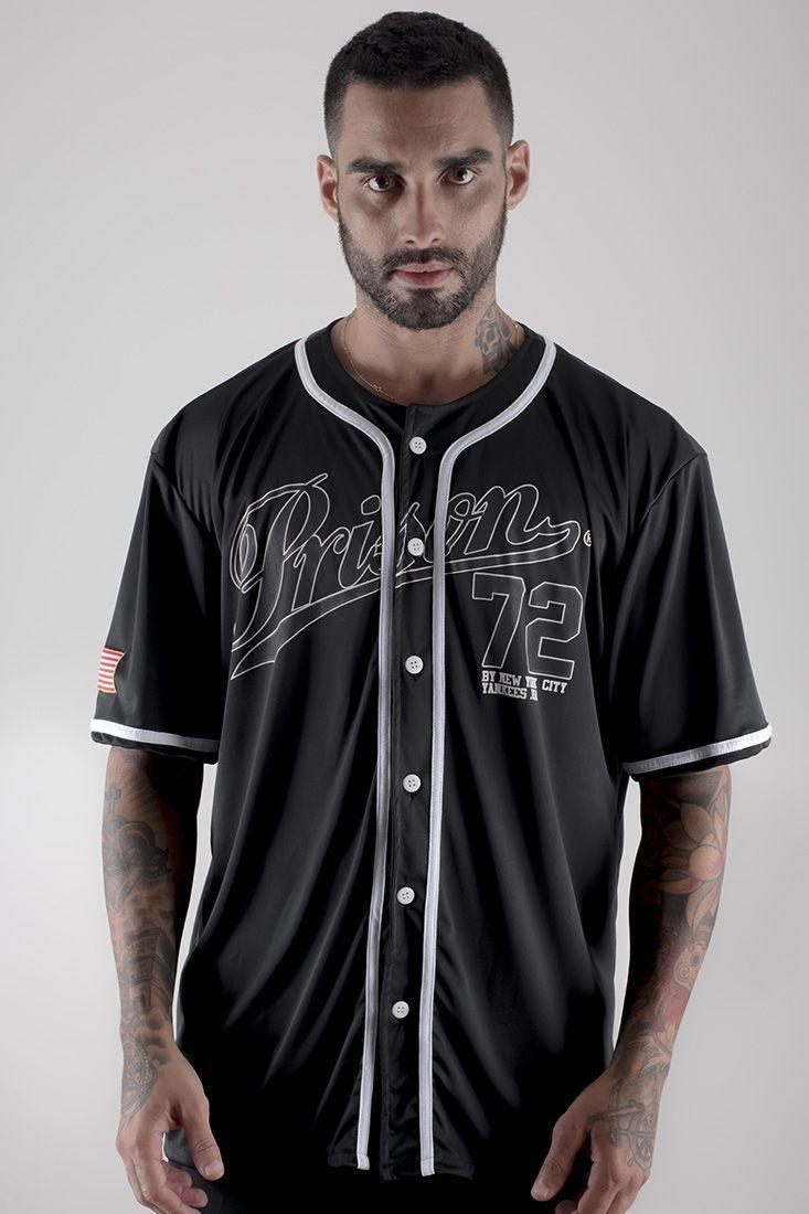 Camisa Baseball Prison Yankees Preta