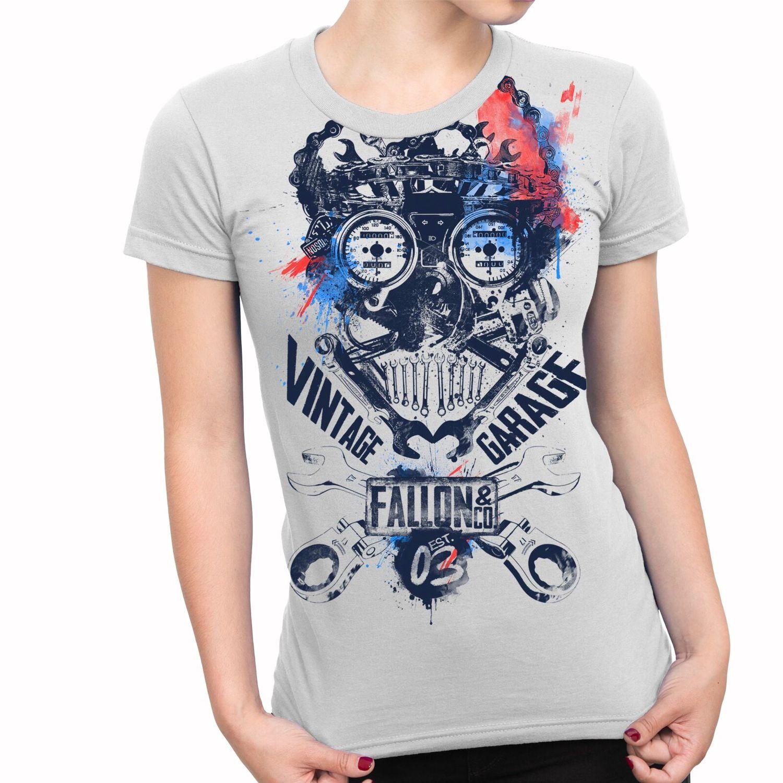 722745096 Camiseta Feminina Fallon Indian Motorcycle Club Preta