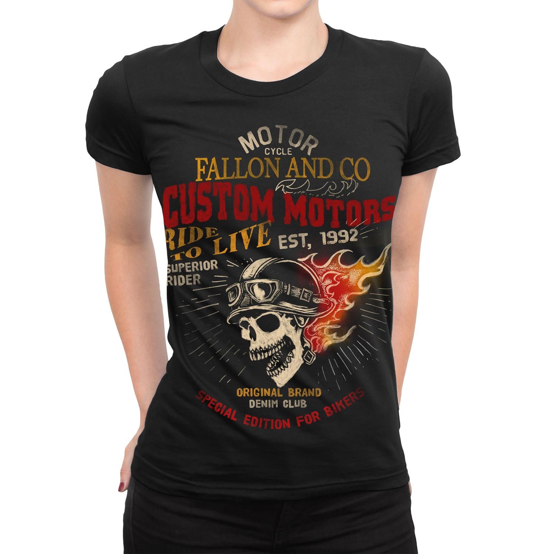 Camiseta Feminina Fallon Ride to Live II Preta