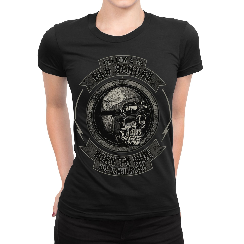 Camiseta FemininaFallon Biker Skull