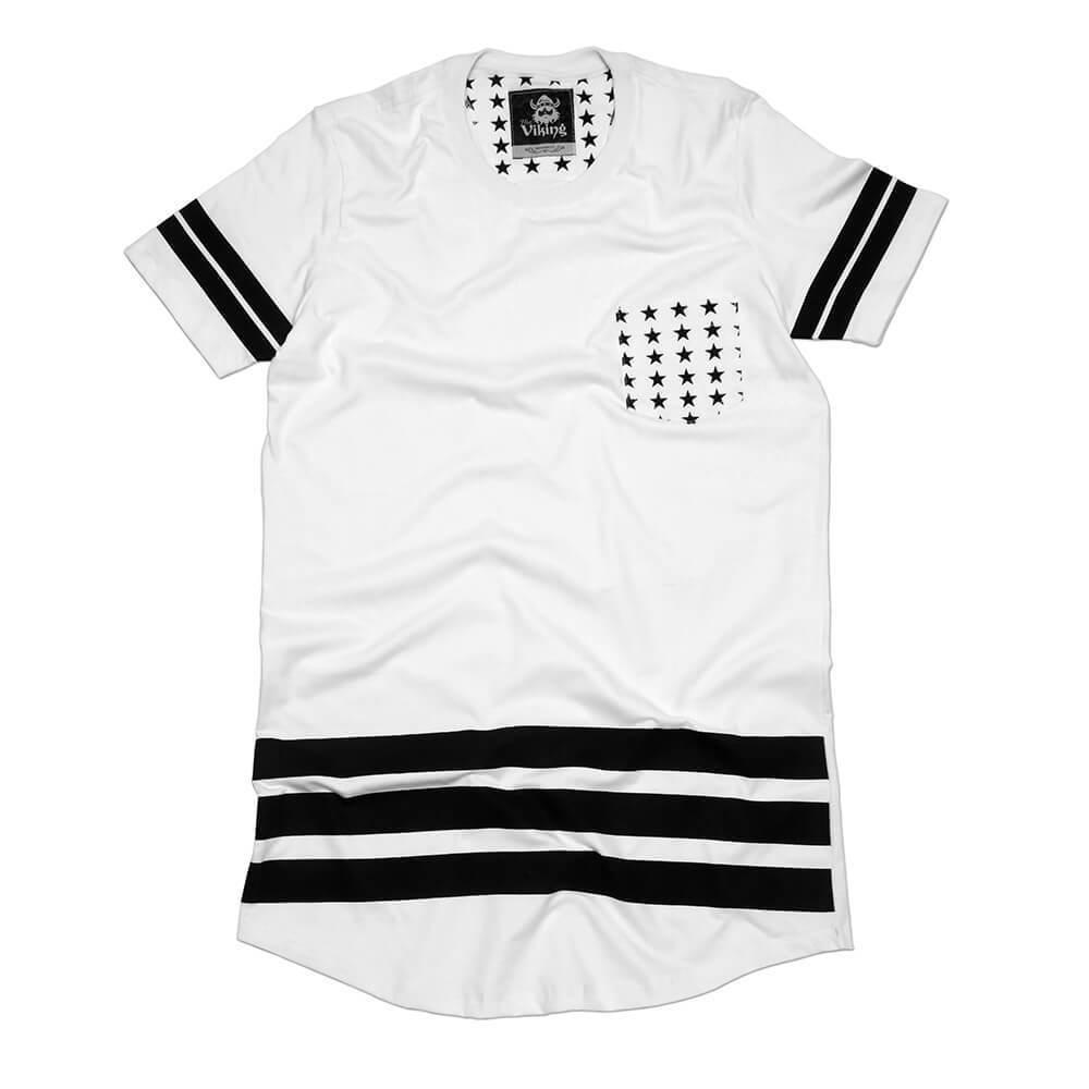 Camiseta Long Line Bolso Estrela