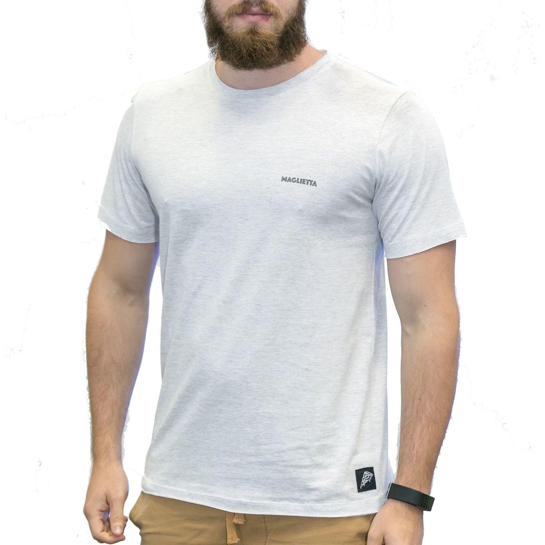 Camiseta Maglietta Branco Mesclado