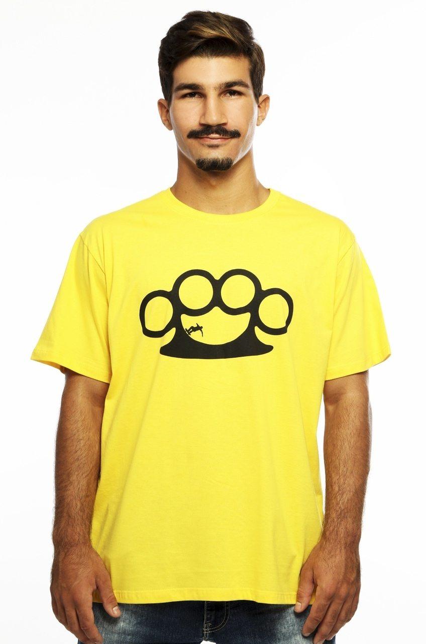 Camiseta MasculinaEstampada Half Pipe Amarelo Hardivision