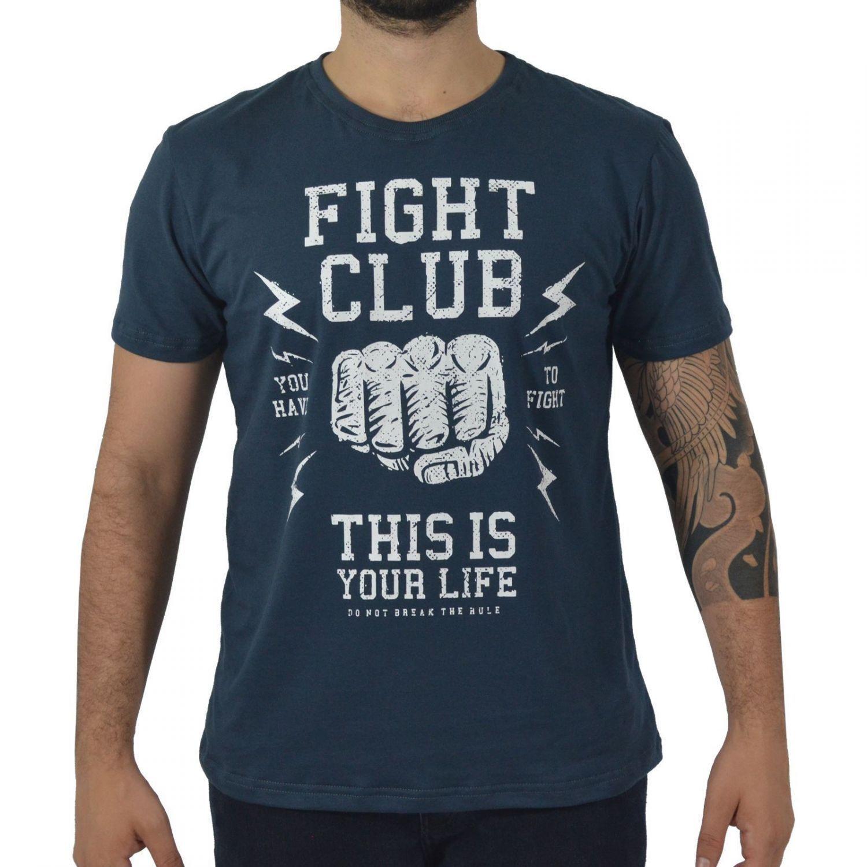 Camiseta Masculina Fallon & Co. Fight Club Chumbo