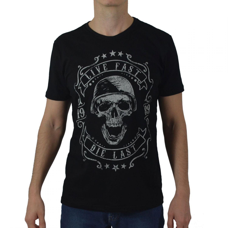 Camiseta Masculina Fallon & Co. Live Fast Preta