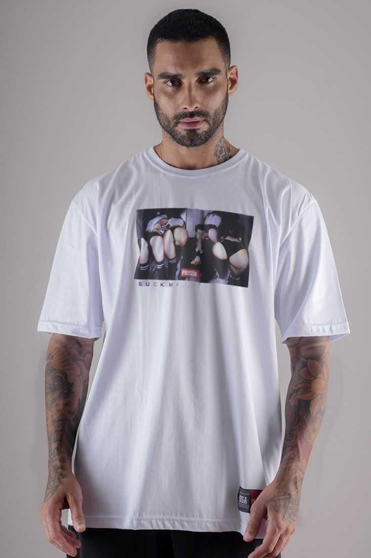 Camiseta Prison Thug King Girls Branca