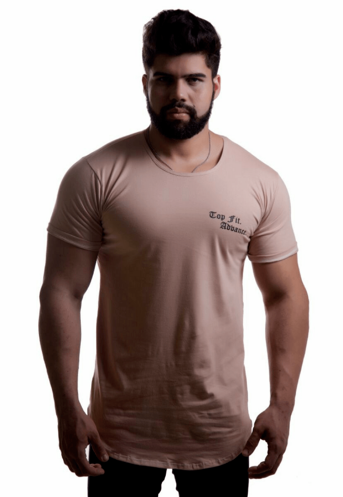 Camiseta Top Fit Caqui
