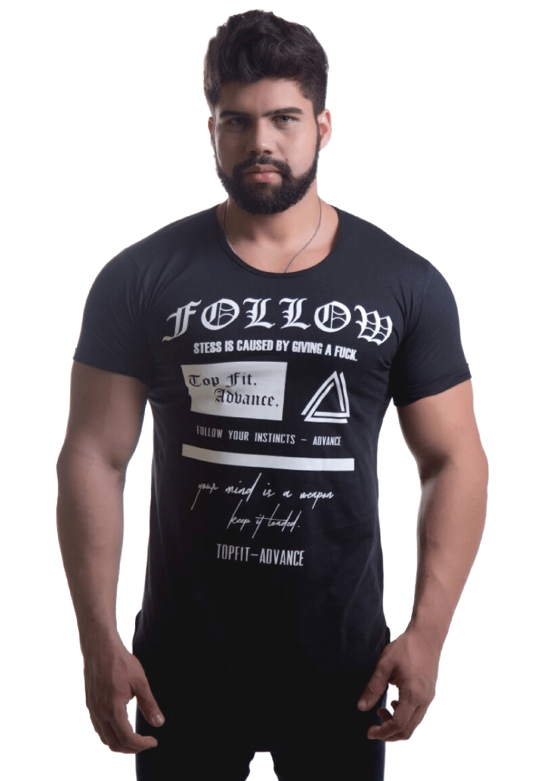 Camiseta Top Fit Follow Preta