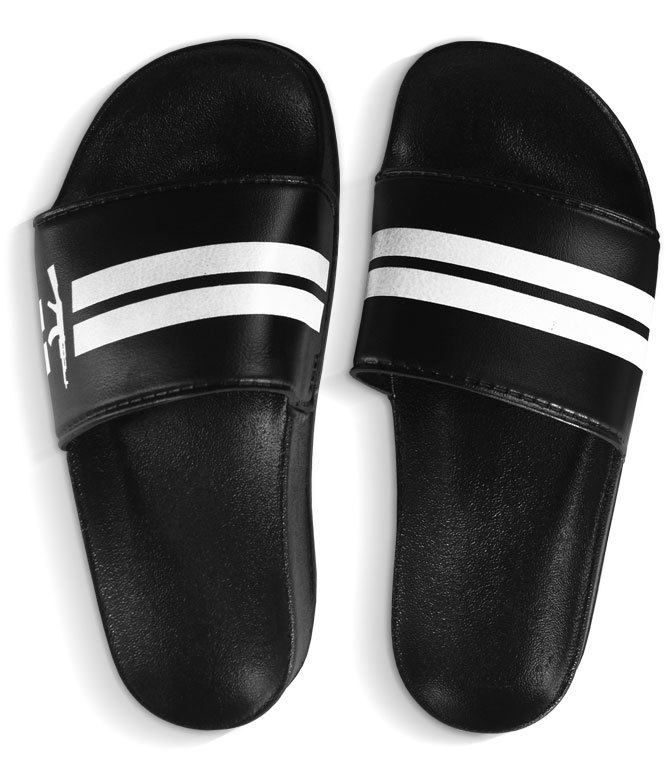 Chinelo Slide Stripes Preto - DLQT