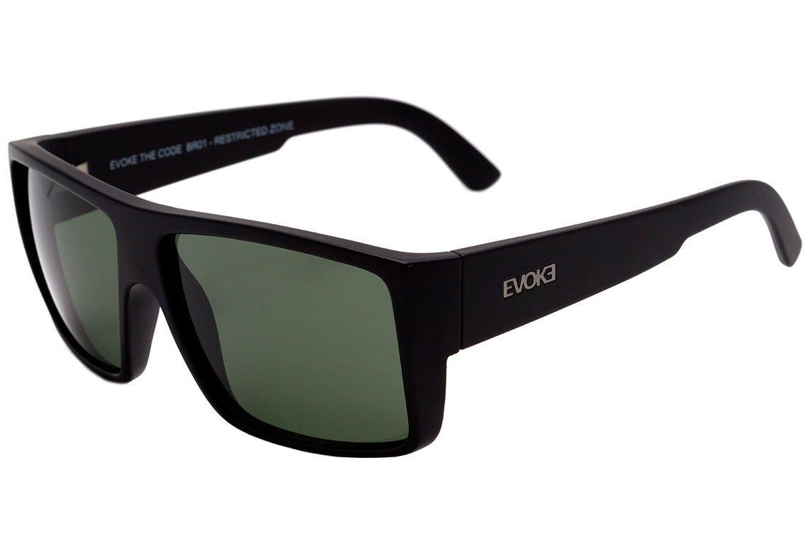 Evoke Code - Óculos de Sol - Black Shine/Gray