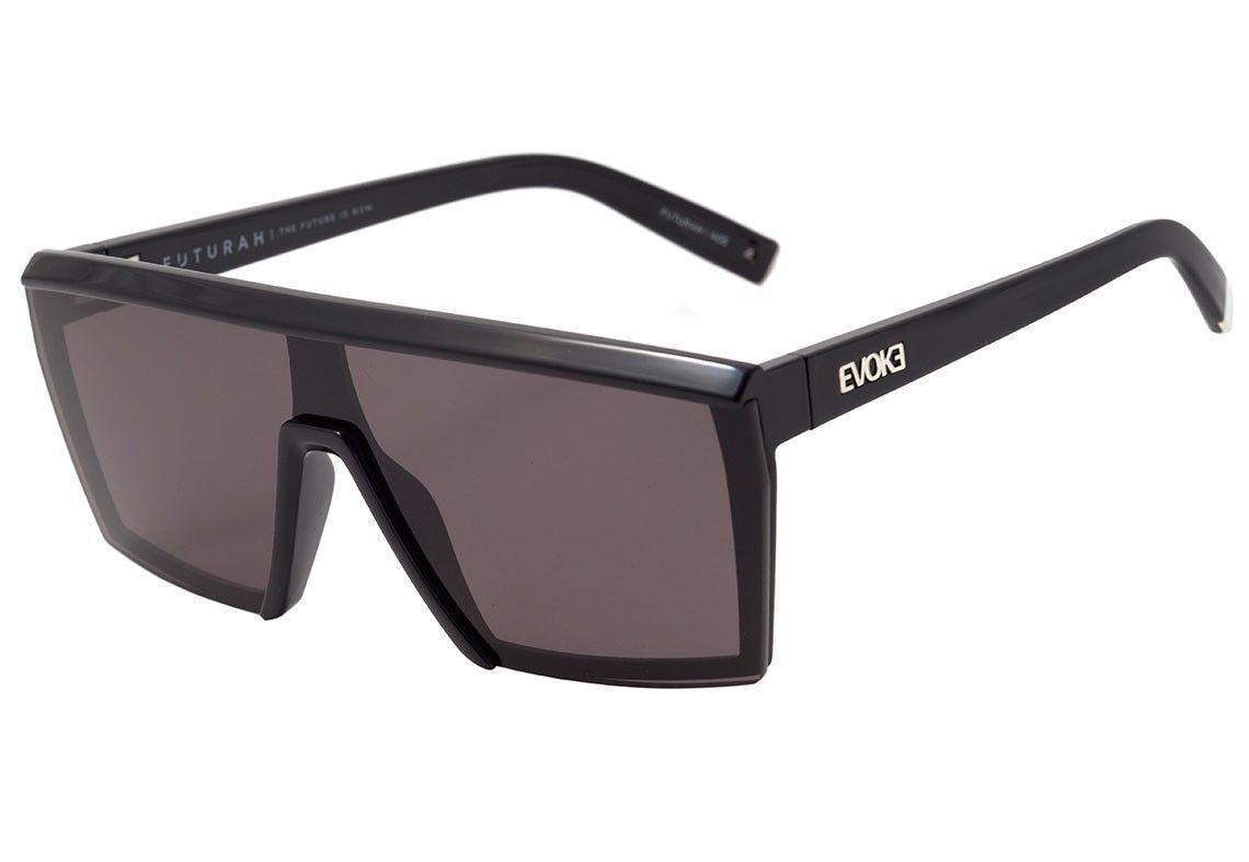 Evoke Futurah - Óculos de Sol - Black Shine Silver/Gray