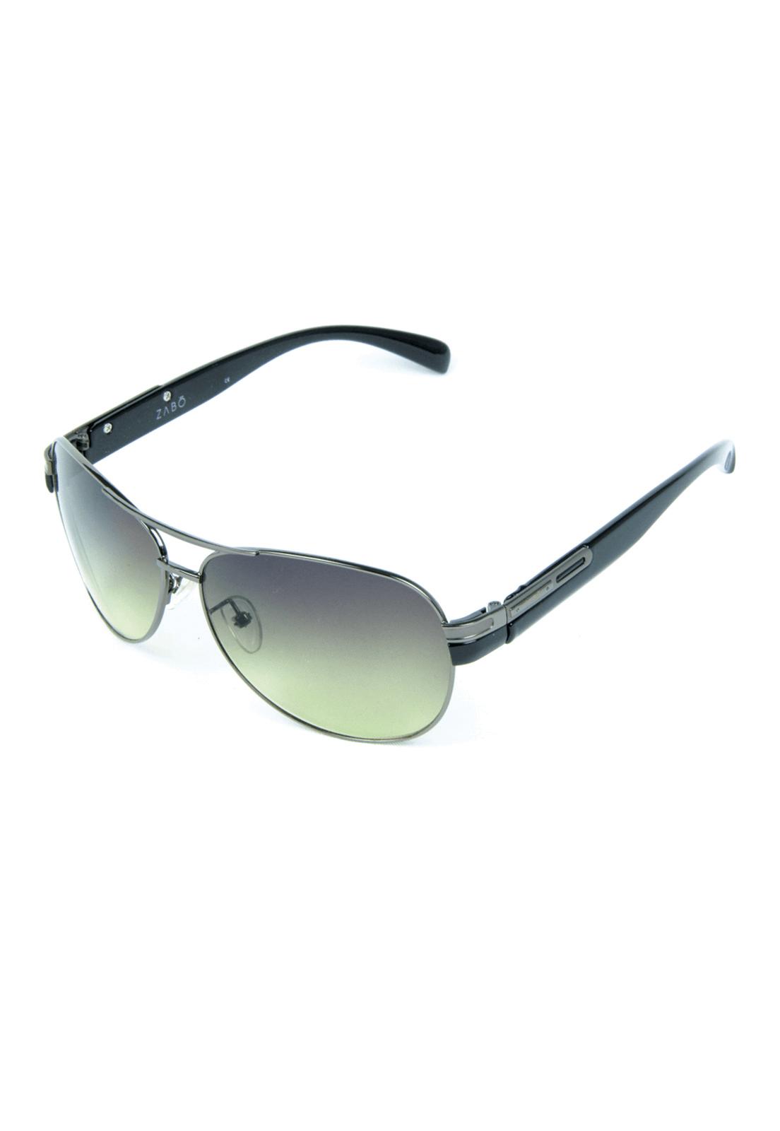 Óculos de Sol com Anti Reflexo em Metal Zabô Dublin Chumbo