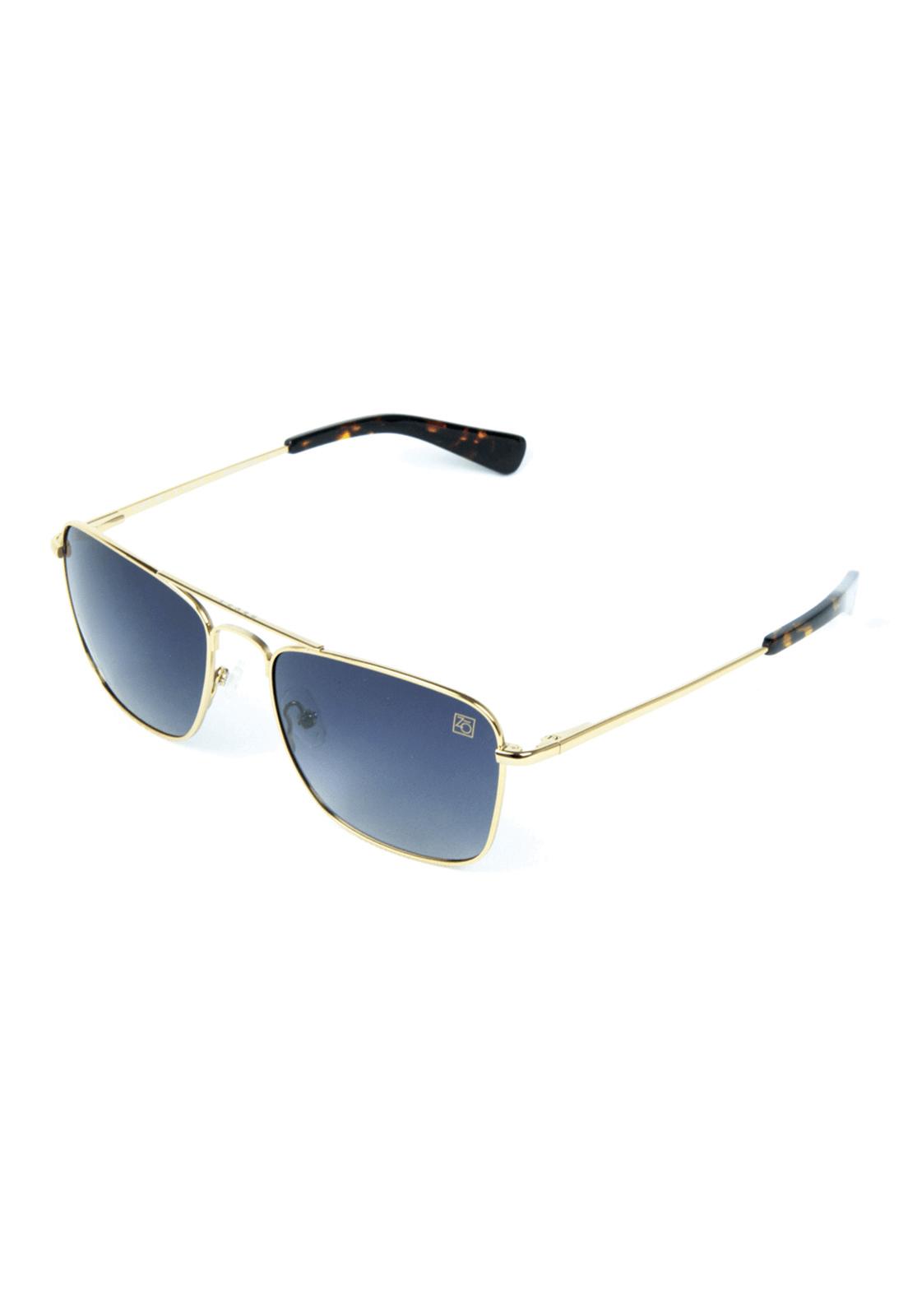 e1d514107 Óculos de Sol Polarizado Banhado a Ouro Zabô Lensk lente Black