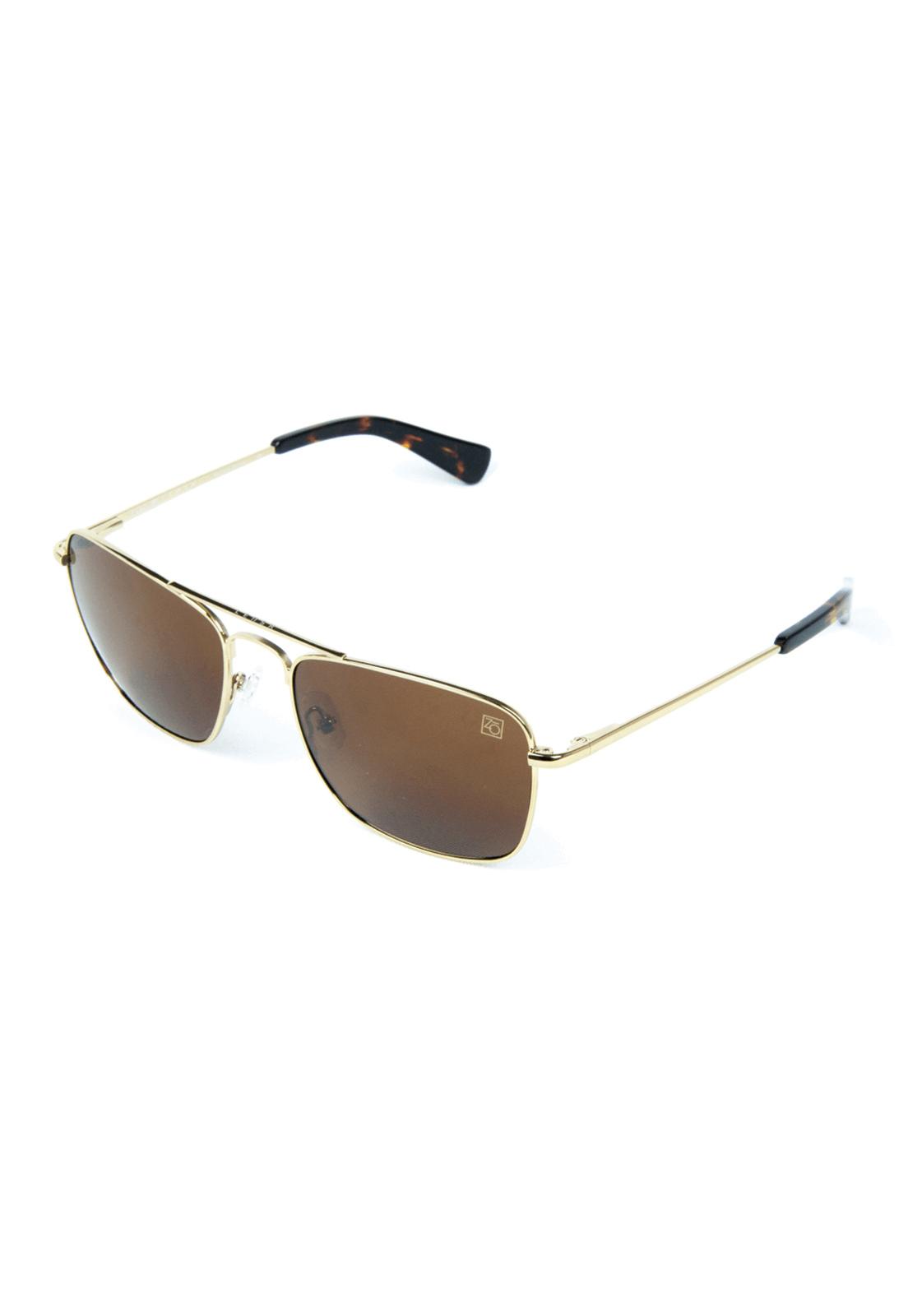 Óculos de Sol Polarizado Banhado a Ouro Zabô Lensk lente Brown