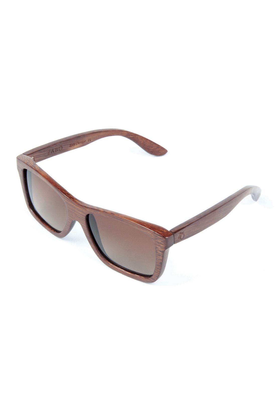 Óculos de Sol Polarizado em Madeira Bambu Zabô Atacama – Lente Brown