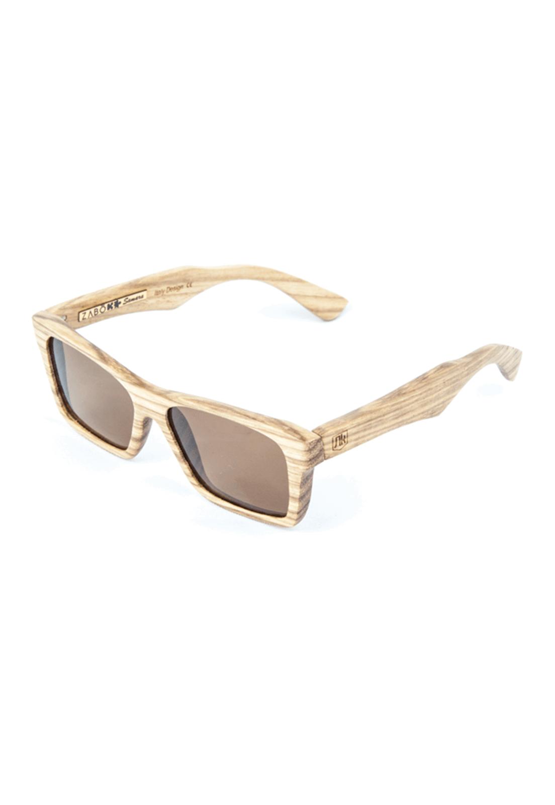 Óculos de Sol Polarizado em Madeira Zebrano Zabô Samara