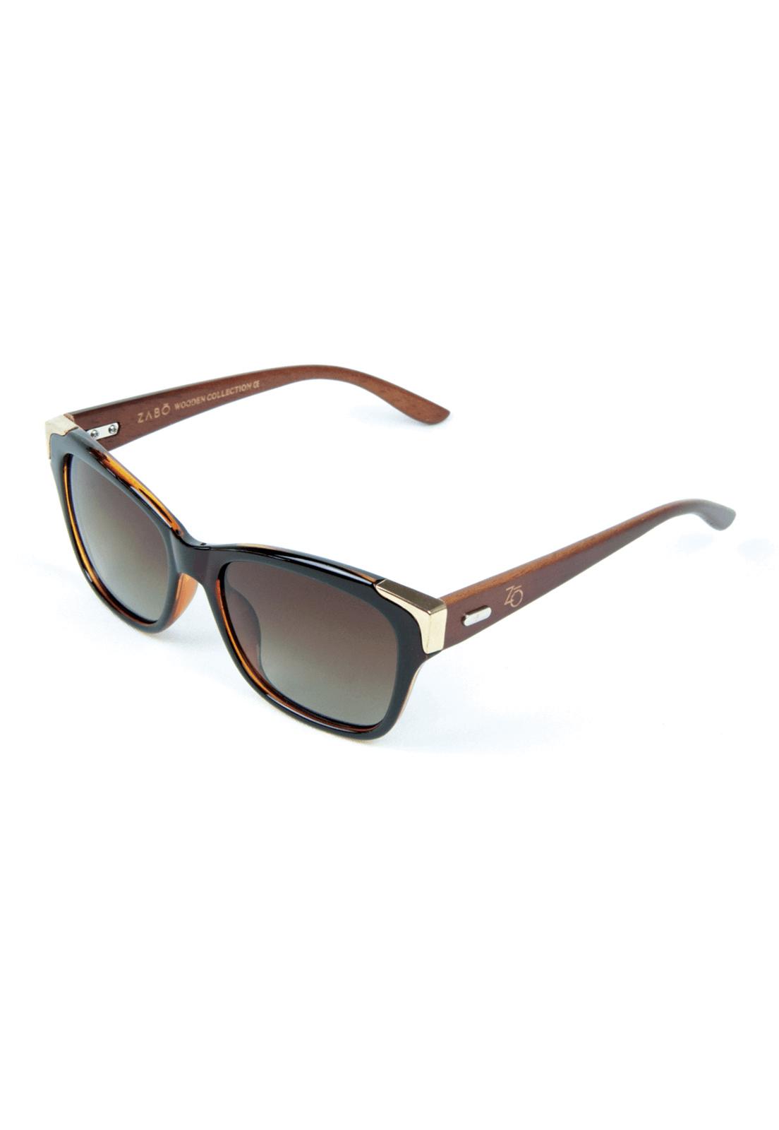 Óculos de Sol Polarizado Zabô Barcelona Marrom Lente Brown